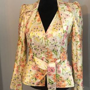 Authentic Christian Dior Floral Silk Blazer